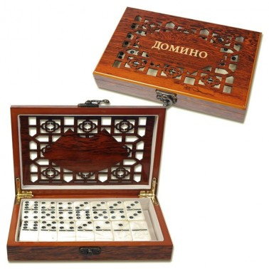 "Spiel ""Domino"", in Box 20x12x4 cm"