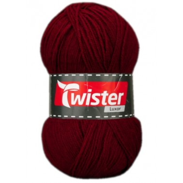 Wolle TWISTER LUXOR bordeaux